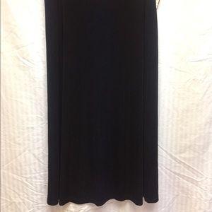 Black Long A-line Slinky Skirt
